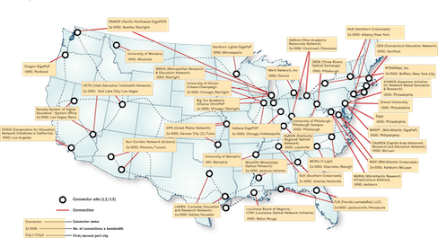 Network connector map