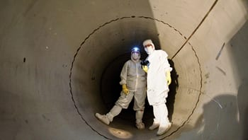 Image of researchers working in a tunnel